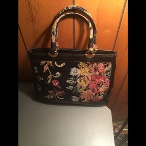 Needle point vintage handbag